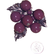 Pretty Purple Grapes Dress Clip or Fur Clip