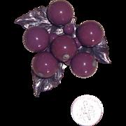 Pretty Purple Grapes Dress Clip or Fur Clip