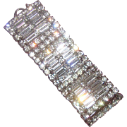 Gorgeous Deco-Inspired Clear-Rhinestone Bracelet: Hollywood Style