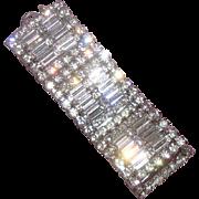 Gorgeous Deco-Inspired Clear-Rhinestone Bracelet: Hollywood Style