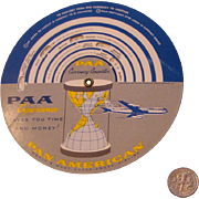 Rare Pan American Airways Int'l Currency & Time Converter: Pan Am