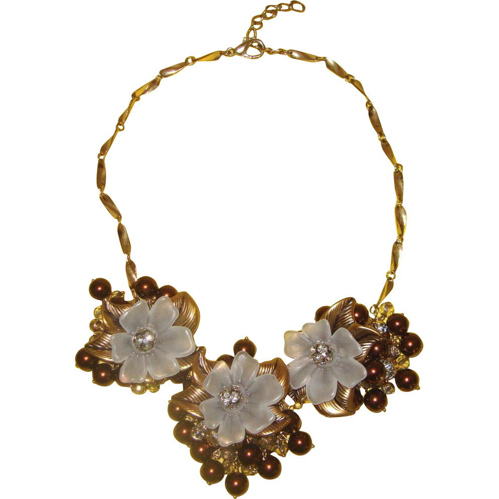 Big Blossoms Bib Necklace