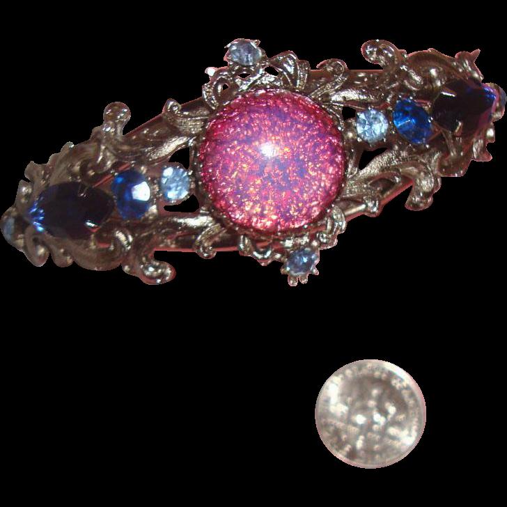 Dazzling Faux-Opal Clamper Bracelet