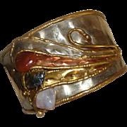 Marvy Modernist - Brutalist Cuff Bracelet