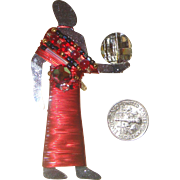 LIZTECH Egyptian-Revival Light-Bearer Brooch: Mirrored Glass