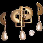 HUGE Modernist Brooch & Earrings