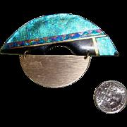 Luminous Handmade Modernist Brooch