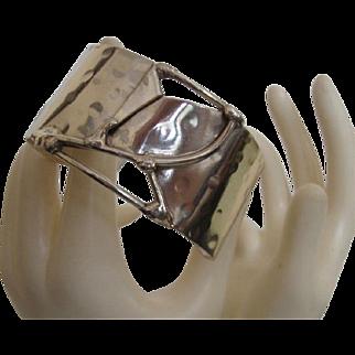 Marvy Modernist Cuff Bracelet from U.K.: OOAK