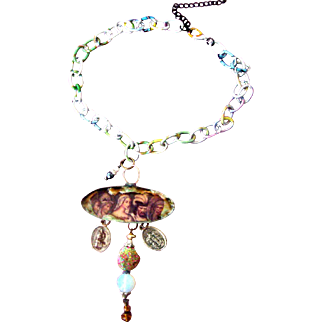 Steampunk Religious-Medals Necklace
