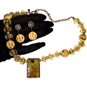 Geisha in Shadow Box Demi-Parure: Necklace & Earrings