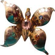 NICE PRICE! Big Butterfly Brooch: C. 1940s