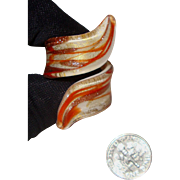 Big, Glimmery Murano - Venetian Glass Wraparound Ring: Fits Beyond the Knuckle