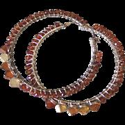 """Spiked Hessonite Hoop Earrings  by Pilula Jula 'Sun Drop II"""""""