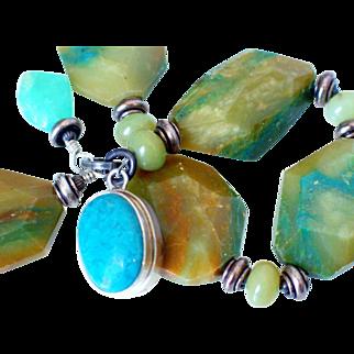 Peruvian Opal & Turquoise Bracelet by Pilula Jula  'Ambush Me'
