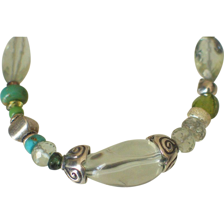 Green Amethyst Skinny Bracelet by Pilula Jula 'Goodbye In Her Eyes'