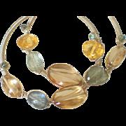 Gemstone Hoop Earrings by Pilula Jula 'Moonslide II'