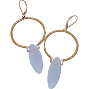 Blue Chalcedony & 14k Gold Fill Earrings by Pilula Jula 'Don't Come Around Here'