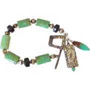 Chrysoprase Charm Bracelet by Pilula Jula 'Tempted I'