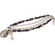 Cultured Freshwater Pearl Multi Strand Bracelet by Pilula Jula 'Moments of Calm I'