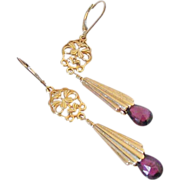 Rhodolite Garnet Gemstone Earrings by Pilula Jula 'Unleash the Pink'