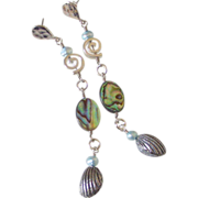 Paua Shell & Clam Charm Earrings by Pilula Jula 'Both Sides Now I'