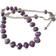 Russian Charoite & Jade Necklace by Pilula Jula 'Thrill of it All'