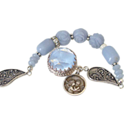 Blue Angelite Charm Bracelet by Pilula Jula 'Opinions'