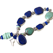Lapis & Turquoise Bracelet by Pilula Jula 'Fast Forward'