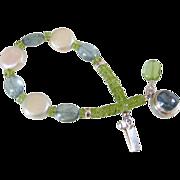 Cultured Freshwater Pearl & Gemstone Bracelet by Pilula Jula 'The Calm'
