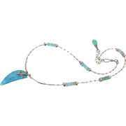 Peruvian Blue Opal Pendant Necklace by Pilula Jula 'Your Private Sky'