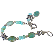 Peruvian Blue Opal Bracelet by Pilula Jula 'Your Private Sky""