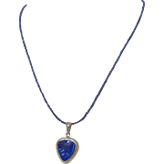 Genuine Lapis Butterfly Pendant Necklace by Pilula Jula 'Indigo Child'