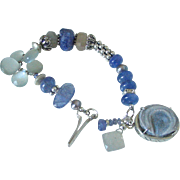 Tanzanite and Gray Moonstone Bracelet by Pilula Jula 'Wizards II'