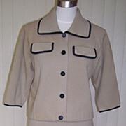 1960s Vintage Taupe Wool Suit