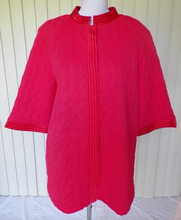 1950s Hip Length Quilted Robe