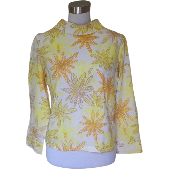 Yellow And White Blouse 106