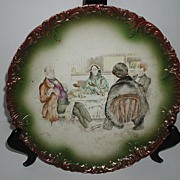"Antique D. F. Haynes Chesapeake Pottery Charles Dickens David Copperfield Wall Hanging  13"" Charger Baltimore MD C. D. Gibson Illustrator"