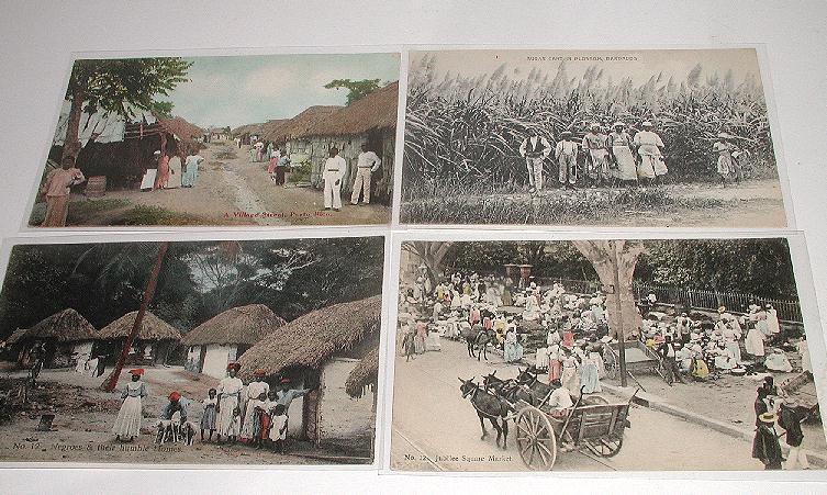 Vintage Early 1900s Lot of seven Black Native Postcards 5 Jamaica 1 Barbados 1 Puerto Rico Black Memorabilia