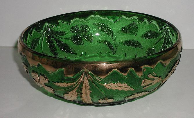 old Vintage U. S. Glass Co EAPG Delaware Emerald Green Master Berry Bowl AKA American Beauty