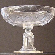 EAPG Early American Pattern Glass Compote Willow Oak