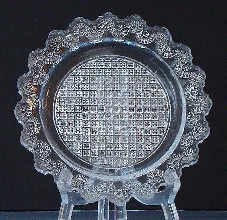 """Rare Very Early 1800s Boston & Sandwich EAPG Flint Lacy 6"""" plate Heavy 1/4"""" Thick"""