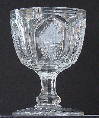 Extremely Scarce Boston & Sandwich EAPG Early American Pattern Glass Flint Glass Magnet & Grape Open Sugar Bowl