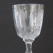 EAPG Early American Pattern Glass Curtain Tie Back Water Goblet 1860s