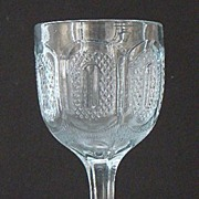 EAPG Early American Pattern Glass Early Buckle Water Goblet