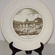 "Wedgwood The Bridge & Castle Of ST. Angelo 10 1/2"" Souvenir Plate"