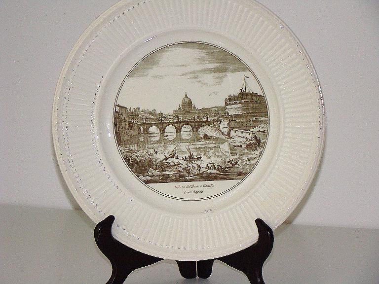 "Wedgwood The Bridge & Castle Of ST. Angelo 10 1/2"" Souvenir Plate"