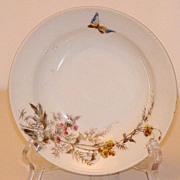 "Charles Field Haviland Gerard Dufraisseix & Morel Limoges Meadow Visitor 7 1/2"" Dessert Plate"