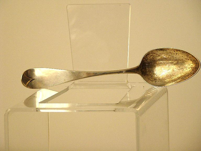 "Joseph Moulton Newburyport MA Circa 1850s Coin Silver 8 1/4"" Serving Spoon"