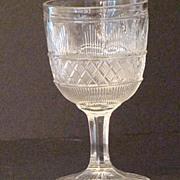 1860s  EAPG Flint Glass Hamilton Water Goblet AKA Cape Cod