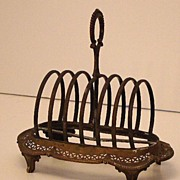 1800s Amazingly Detailed Henry Wilkinson & Co. Silverplate Toast Rack